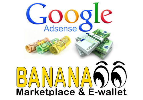 BANANA00 Marketplace allows online collection of Google AdSense publicity